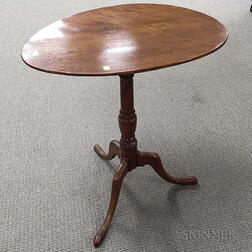Chippendale Birch Oval Tilt-top Candlestand