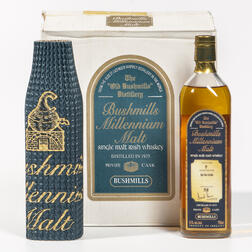 Bushmills Millennium Malt 25 Years Old 1975, 6 750ml bottles (oc)