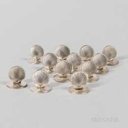Twelve Tiffany & Co. Sterling Silver Place Card Holders