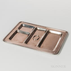 Black Starr & Frost Sterling Silver Desk Tray