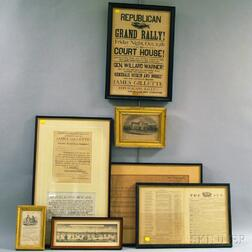 Eight Framed American Historical Prints