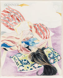 """Claire Anne Khalil (American, b. 1944)      Study for Women and Literature-#2 """"EMMA."""""""
