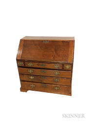 Chippendale Walnut Slant-lid Desk