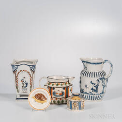 Five Staffordshire Pearlware Items