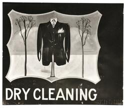 "Walker Evans (American, 1903-1975)      Hand-painted ""Dry Cleaning"" Sign, Near Baton Rouge, Louisiana"