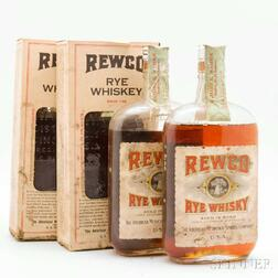 Rewco Rye Whiskey 15 Years Old 1917, 4 pint bottles (oc)