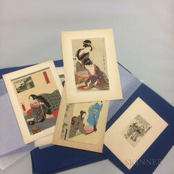 Thirteen Assorted Ukiyo-e   Woodblock Prints