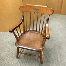 Mahogany Chair from the Director's Room of the Boston & Lowell Railroad