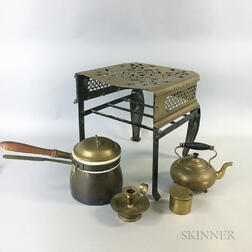 Small Group of Brass Items