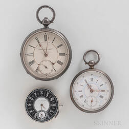 Two Waltham Watches and a Swiss Watch