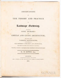 Repton, Humphry (1752-1818) Observations on the Theory and Practice of Landscape Gardening.