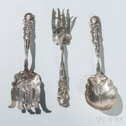 """Three Alvin """"Raphael"""" Pattern Sterling Silver Serving Pieces"""