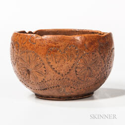 Small Chip-carved Burl Bowl