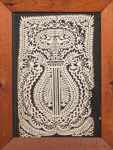 Cutwork Picture of a Lyre