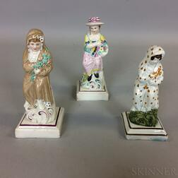 Three Neale & Co. Pearlware Figures