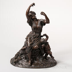After Eugene Lequesne (French, 1815-1887)    Bronze Classical Figural Group