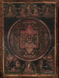 Thangka Depicting a Kalachakra Mandala