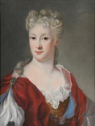 After Giovanna Fratellini (Italian, 1666-1731)      Bust Length Portrait of Signora (Alessandro) Strozzi
