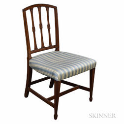 Federal Mahogany Square-back Side Chair