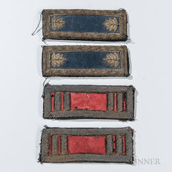 Two Pairs of Civil War Officer's Shoulder Boards