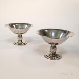 Two C.C. Hermann Sterling Silver Tazzas