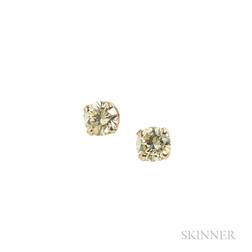 Gold and Diamond Earstuds