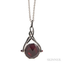 "18kt Gold, Garnet, and Black Sapphire ""Rocks Off"" Pendant Necklace, Stephen Webster"