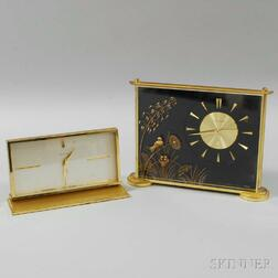 Jaeger-LeCoultre and Unmarked Swiss Desk Clocks