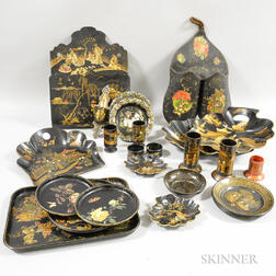 Large Group of Lacquered Items
