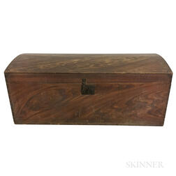Grain-painted Pine Dome-top Chest