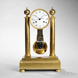 "French Ormolu Mantel Clock with ""Coup Perdu"" Escapement"