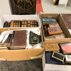 Large Group of 19th and 20th Century Decorative Bindings.     Estimate $200-400