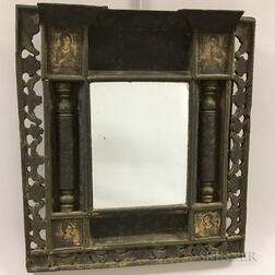 Carved and Paint-decorated Wood Mirror