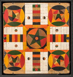 Double Polychrome Painted Game Board