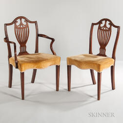 Set of Eight Georgian-style Mahogany Dining Chairs