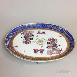 Japanese Reticulated Footed Porcelain Platter