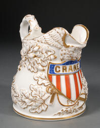 Porcelain Pitcher Decorated with an American Eagle and Shield