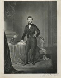 Lincoln, Abraham Engraved Portrait by John Chester Buttre (1821-1893).