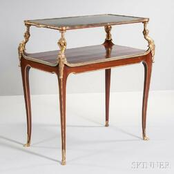 Napoleon III Mahogany and Gilt-bronze Tea Table