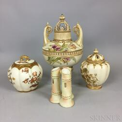 Four Mostly Royal Worcester Ceramic Items