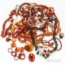 Group of Carnelian Jewelry
