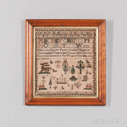 Dated 1791 Needlework Sampler