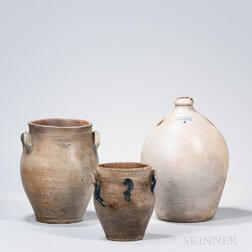 Three Stoneware Vessels