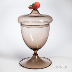 Monumental Murano Glass Covered Urn