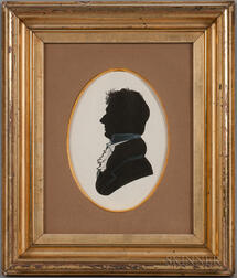 Watercolor Silhouette of a Man