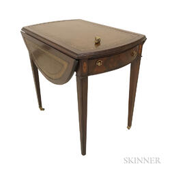 Carolina Panel Co. Federal-style Pembroke Table and a Queen Anne-style Footstool.     Estimate $20-200