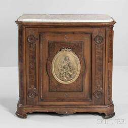 Marble-top Walnut Cabinet