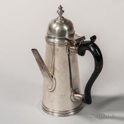 Stieff-Colonial Williamsburg Reproduction Sterling Silver Chocolate Pot