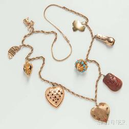14kt Gold Charm Necklace