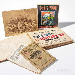 Harvard Scrapbook and Ephemera Related to 1880s Harvard Baseball